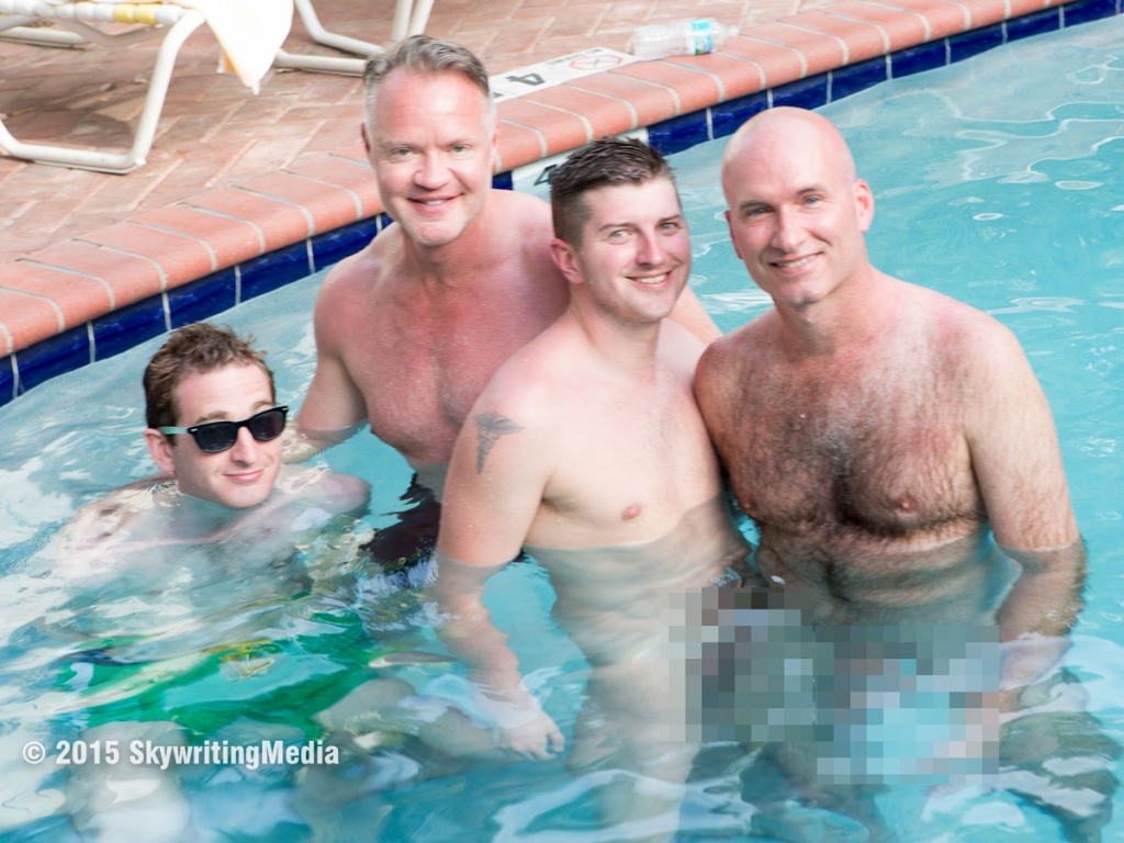 4 men in the pool