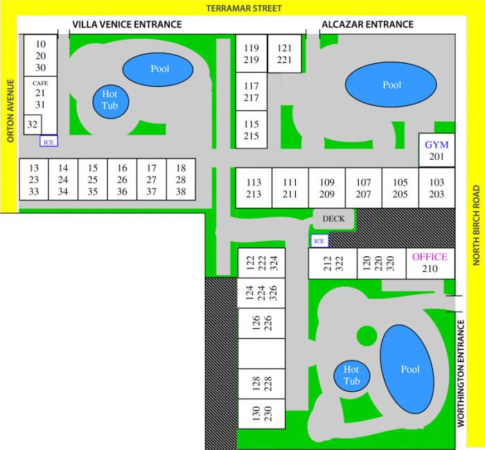 Property Map Worthington Resorts Fort Lauderdale